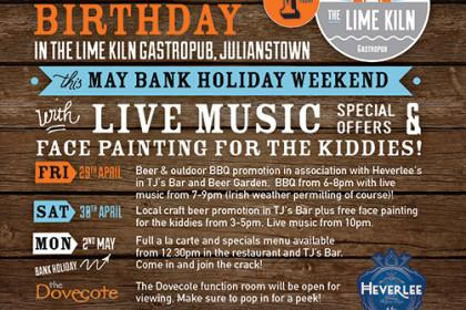 Lime Kiln Birthday & May Bank Holiday Weekend