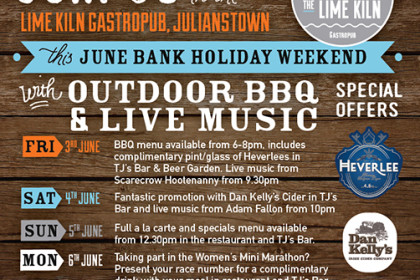 June Bank Holiday at The Lime Kiln Gastropub