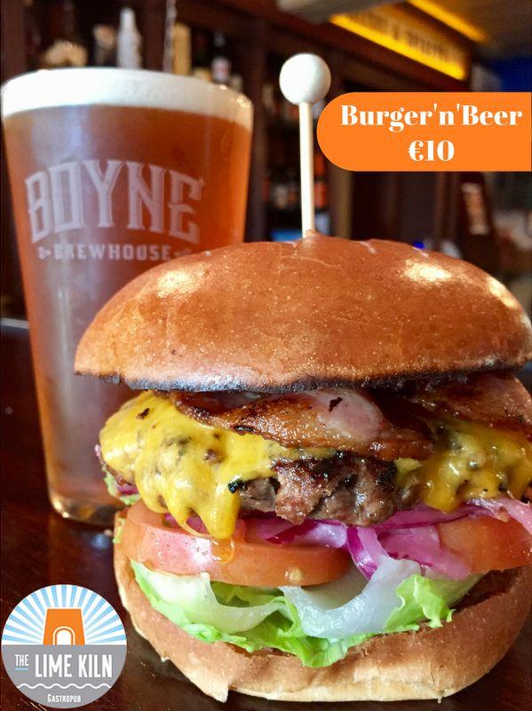 Burger'n'Beer match specials @ TJ's