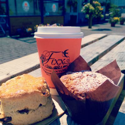 Tea/Coffee + Scone/Muffin from The Pantry, Lime Kiln Juliasntown
