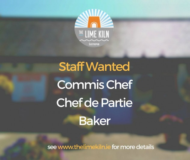 Staff Wanted FB post Aug 2018 Commis Chef Chef de Partie Baker+2