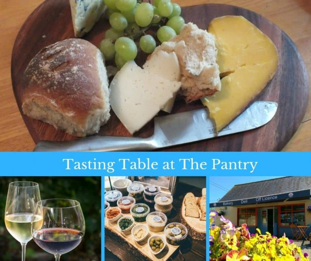 Tasting Table at The Pantry Fri 14 Sep Irish cheese red and white wines homemade pestos dips crusty bread