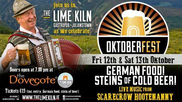 Oktoberfest at The Lime Kiln Gastropub, German food, cold steins of beer, live music