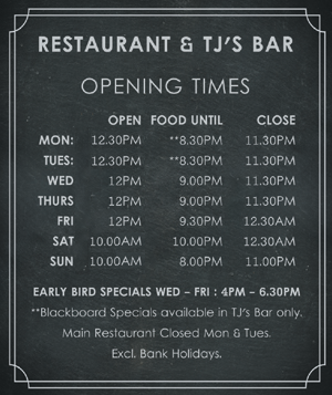 The Lime Kiln Opening Times