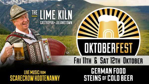 Celebrate Oktoberfest at The Lime Kiln Gastropub 11 & 12 Oct