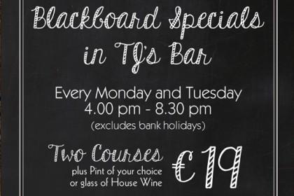 1916 Blackboard Specials @ TJ's Bar